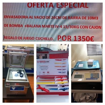 Oferta ENVASADORA+BALANZA+CAJON Y REGALO