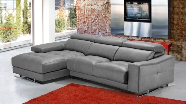 Sofa piel modelo Jaguar de Divanis