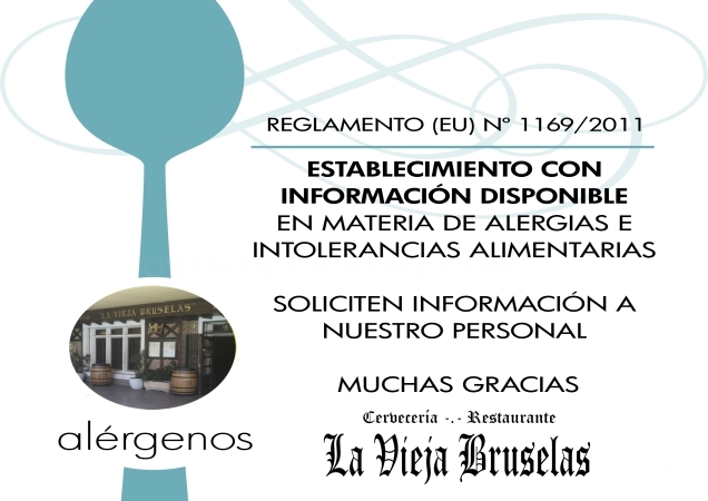 Información Alimentaria y de Alérgenos.