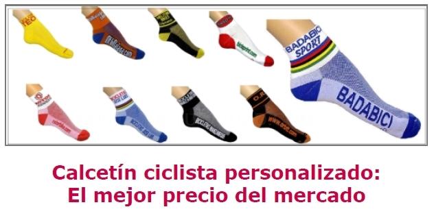 Calcetines personalizados para ciclistas