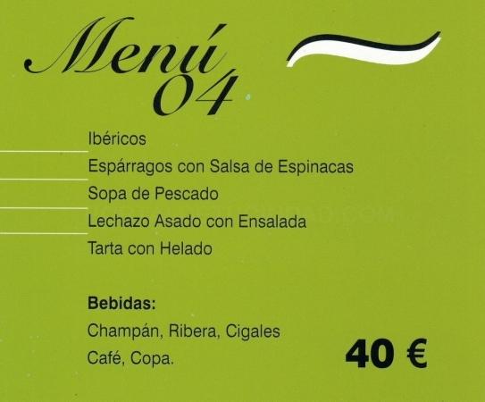 Menú Comuniones en Palencia