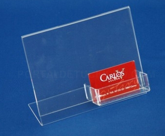 Porta tarjetas de metacrilato