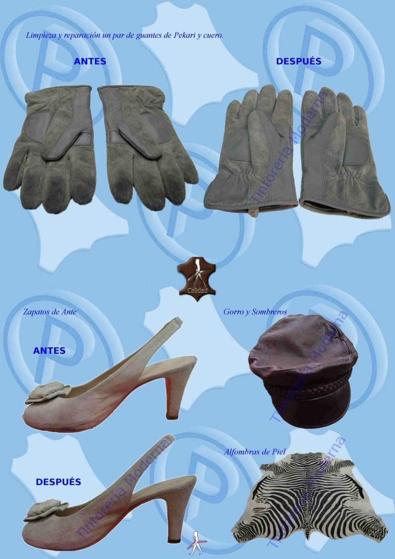 Limpieza de guantes