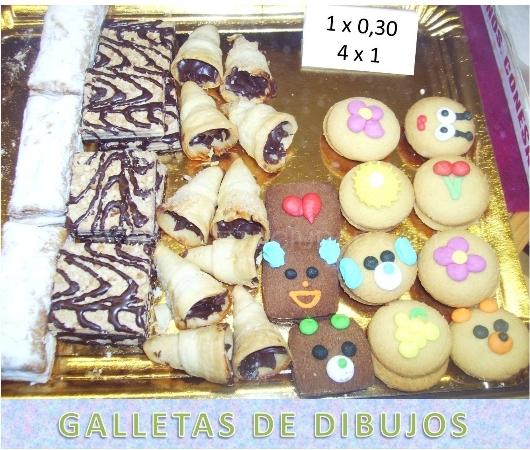GALLETAS DE DIBUJOS Y MAS