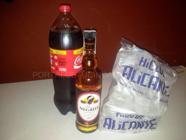 Botella de Negrita + refresco 2L + bolsa de hielo 13€