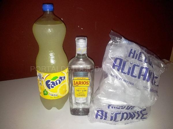 Botella Larios + refresco 2L + bolsa de hielo 15€