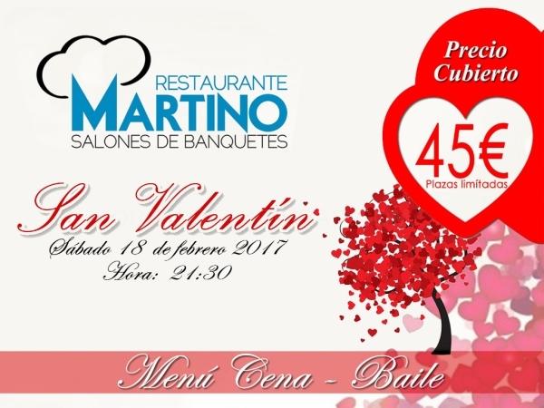 Menú Día de Enamorados San Valentín en Elche