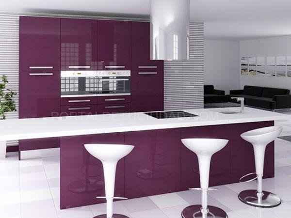 Muebles cocina lila Baix Llobregat Barcelona
