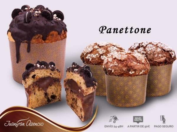Panettone de chocolate, Frutas, Turrón Aspe
