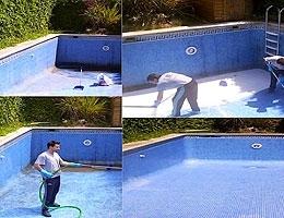 Limpieza del vaso de piscina