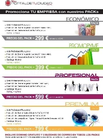 WEB PROFESIONAL PLUS PROMOCIONES ESPECIALES