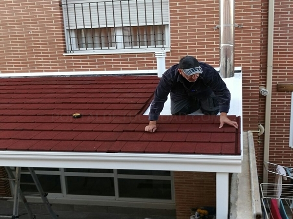 techo aluminio teja caucho