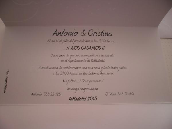 Texto Invitación