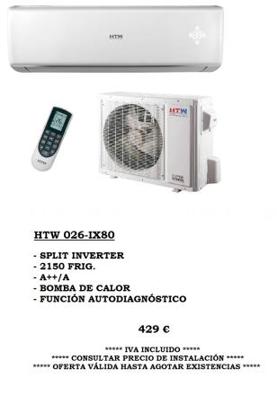 Oferta Climatización HTW Split