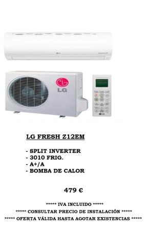 Oferta Climatización LG fresh