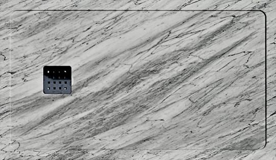 Plato de ducha de Marmol Blanco Italia
