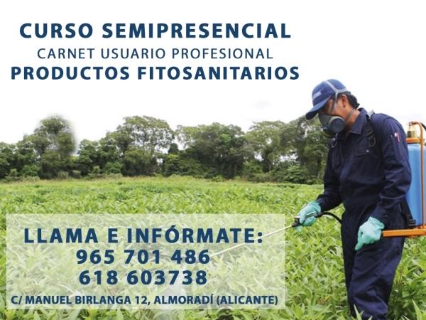 Curso manipulador de productos fitosanitarios