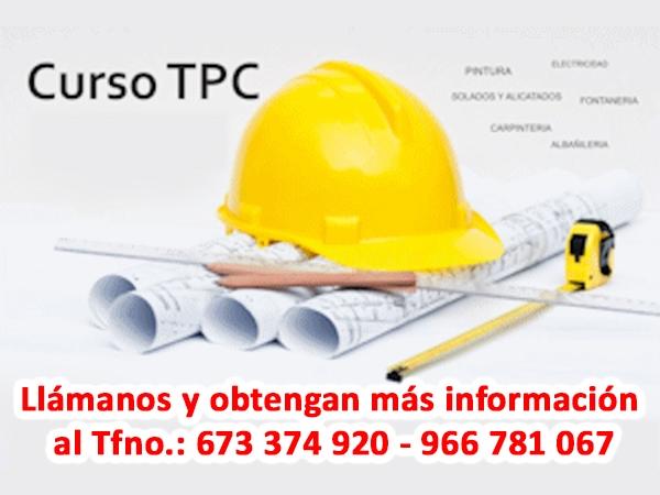 Curso Tarjeta TPC en Elche, Torrevieja