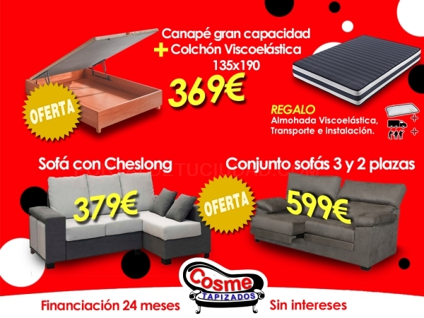 OFERTA: Canapé más colchón en Almoradí
