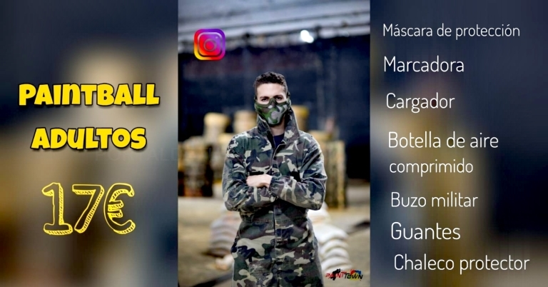 Paintball para adultos en Palencia