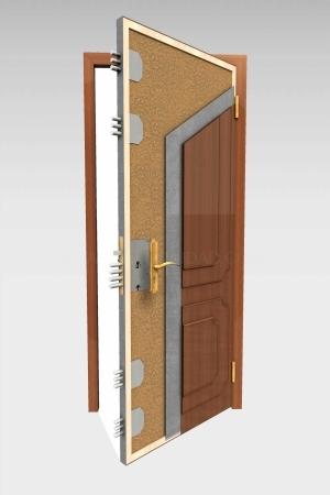 Puerta acorazada en las Rozas