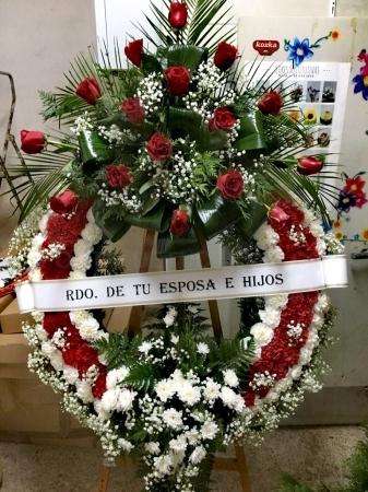 Coronas  funerarias en Palencia