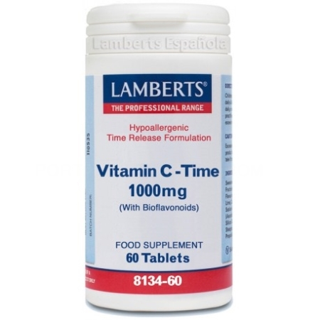 LAMBERTS VITAMIN C-TIME 1000 MG 60 TABLETAS