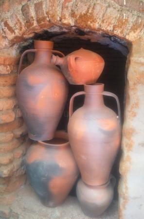 Cerámica cocida en horno de leña ó árabe