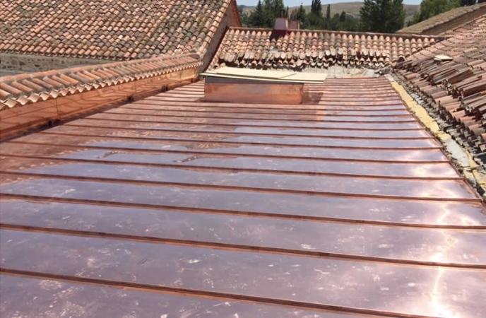 Colocación de cubiertas de cobre en Palencia
