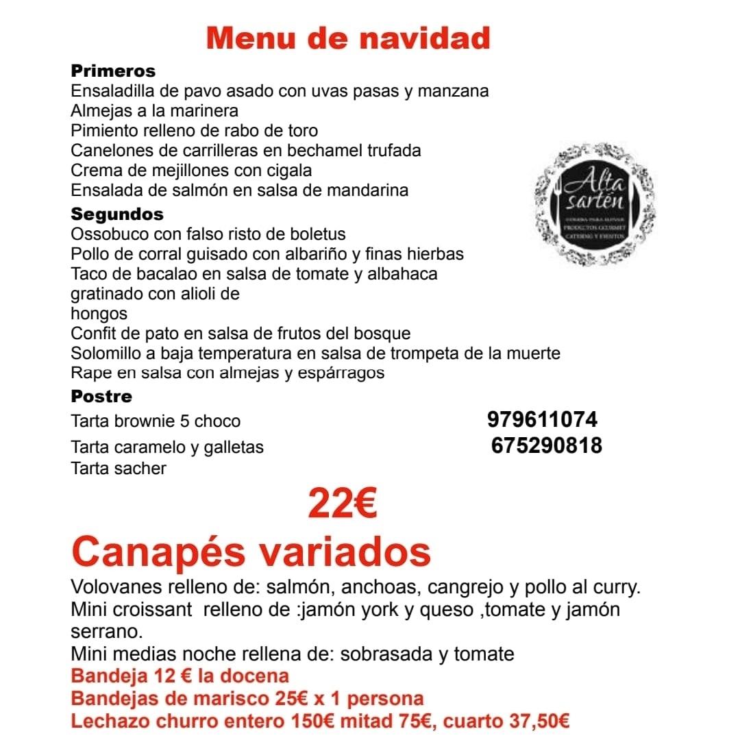 Menú Navidad en Palencia