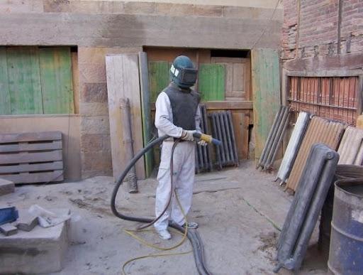 Chorro de arena en Palencia