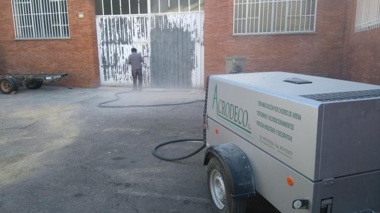 Chorro de arena  Palencia.
