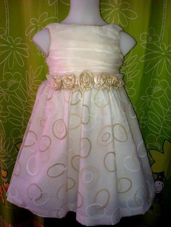 vestido organza con cancan