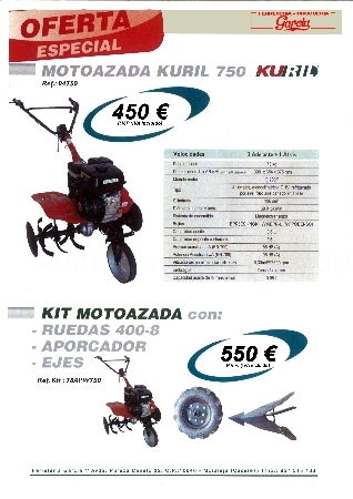 Moto Azada 750