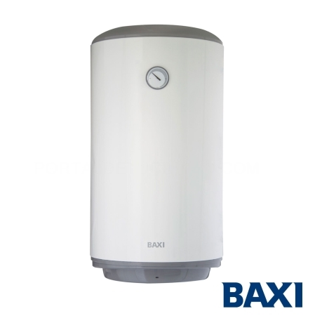 Termo eléctrico mural Baxi Serie 5 vertical de 80 litros con gran producción de agua caliente sanita