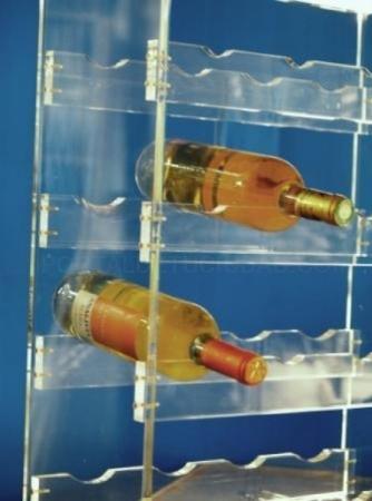 Botelleros de metacrilato
