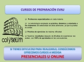 Cursos EvAU y Acceso mayores 25 años