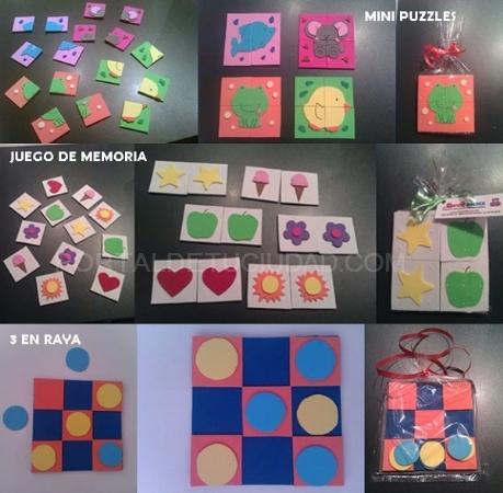 Juegos educativos de goma eva Barcelona Baox Llobregat