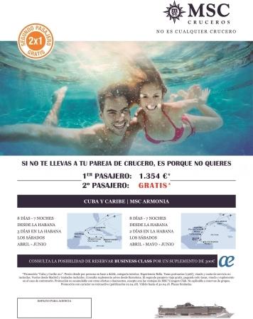 Crucero por Cuba y Caribe 2x1