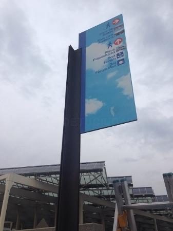 cartel de señalización en Hospitalet