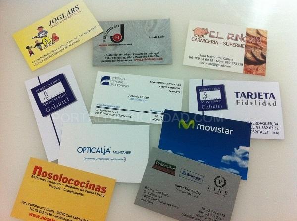 tarjetas de visita en Barcelona