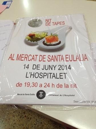 poster nit de tapes en Hospitalet