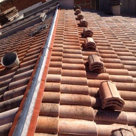 Caballete central tejado Barcelona