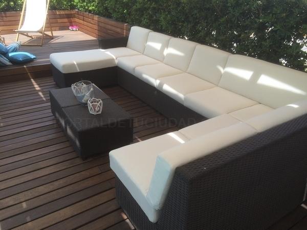 tapizado chaise long jardin