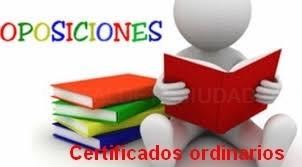Certificados ordinarios para oposiciones en Guadalajara