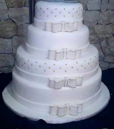 Tarta boda lazos
