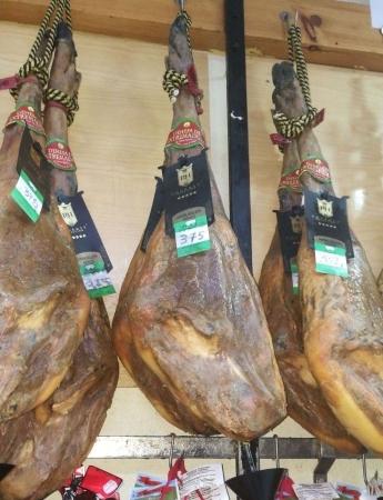Jamones ibéricos bellota Dehesa Extremadura