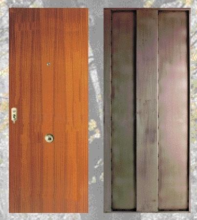 Puerta de alta seguridad mod. liso a 2 lados
