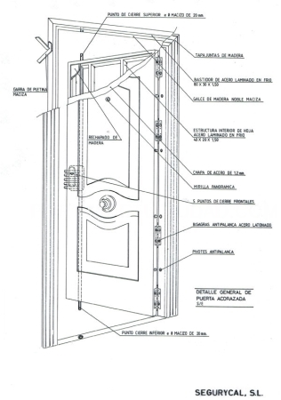 Configuración de estructura interior de acero