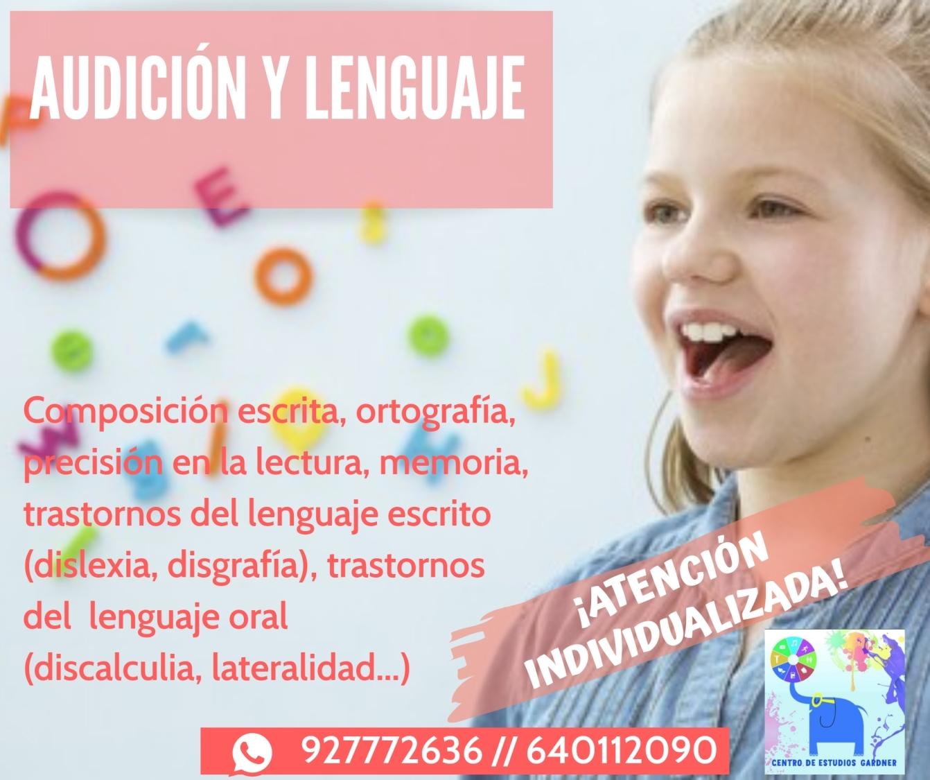 Atención especializada audición y lenguaje